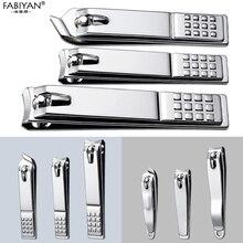 Нержавеющая сталь, машинка для стрижки ногтей, резак, профессиональный триммер для маникюра, кусачки для пальцев, серебряный нож для педикюра, инструменты для ногтей