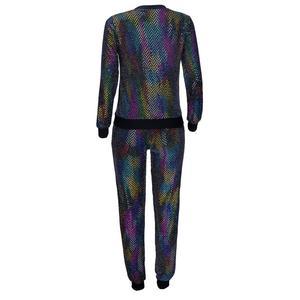 Image 5 - 2 stück Set Afrikanischen Sets Für Frauen Neue Pailletten Afrikanische Elastische Bazin Baggy Hosen Rock Stil Dashiki Hülse Berühmte Anzug für Dame