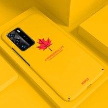 Ultra-ince renkli mat sert PC telefon kılıfı için Huawei P40 P30 P20 lite Mate 30 20 10 Pro lüks sevimli darbeye dayanıklı buzlu kapak