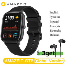 Original New Amazfit GTS Smart Watch Global Version Huami Outdoor GPS Positioning Running Heart Rate 5ATM Waterproof Smartwatch