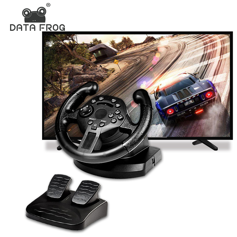 DATA FROG Game Racing Steering Wheel Vibration Joysticks For PS3 Steering Wheel Remote Controller Wheels Drive For PC image