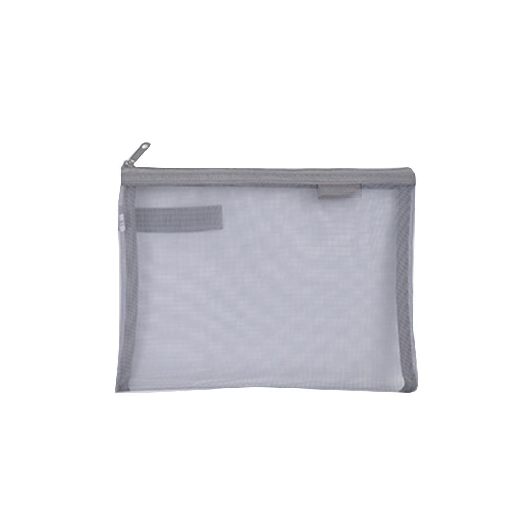 Solid Storage Holder Document Bag Pen Filing Products Nylon Paper Folder A4 A5 Transparent Gridding Office School Stationery