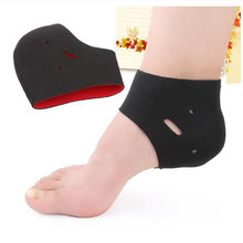 1 Pair plantar fasciitis therapy heel wrap foot pain ankle arch support heel brace warm protector Orthopedic insoles Foot Care(China)