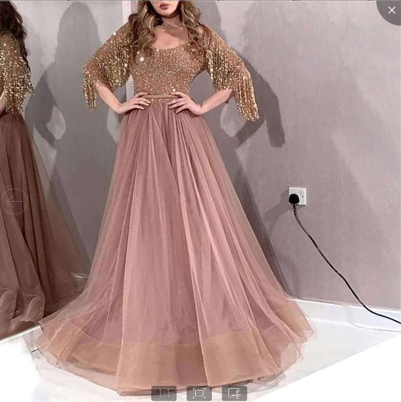 Linglewei New Spring and Summer Women's Dress new women's Sexy Sequin fringe slim dress