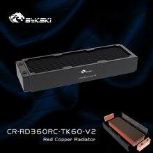 Bykski-Radiador de refrigeración para PC, cobre lleno de cobre negro y latón, 3 pisos, 60mm de espesor, fila de refrigeración por agua de 120/240/360MM, disipador térmico