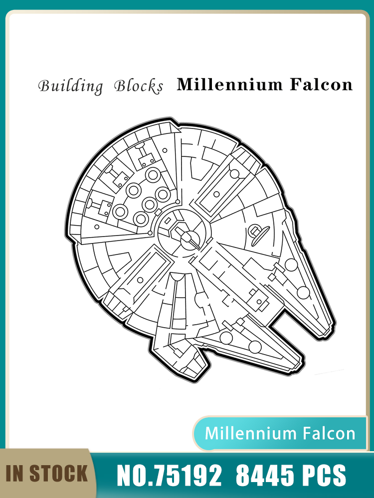כוכב תכנית 05132 8445PCS אספנים בניין בלוקים לבני אולטימטיבי המילניום פלקון דגם 05132 כוכב ספינה ילדי צעצועי מתנות