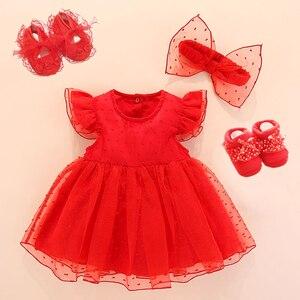 Одежда и платья для новорожденных девочек Хлопковое платье принцессы для крещения белое платье для малышей платье для девочек на день рожд...