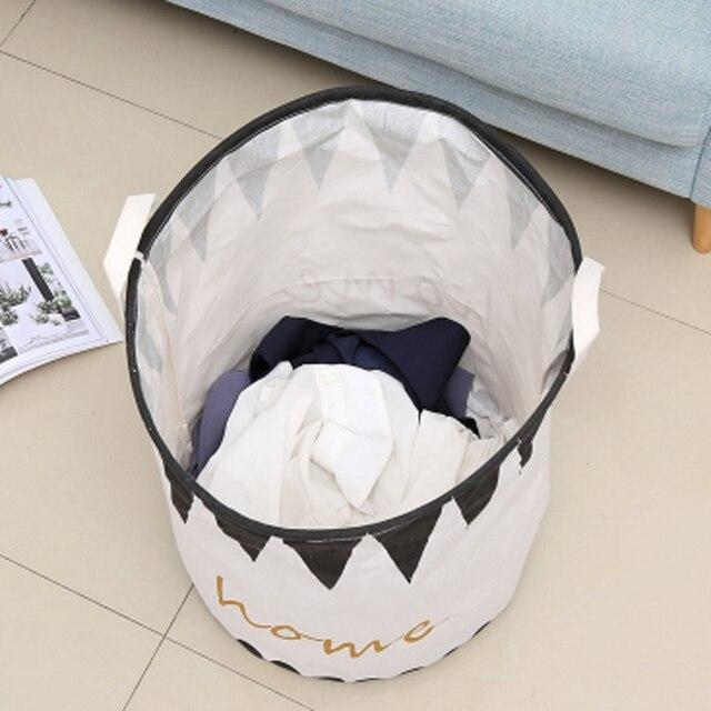 Фото внутренняя водонепроницаемая корзина для хранения складная белья цена