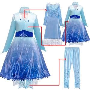 Image 4 - Женский костюм «Снежная Королева», маскарадное вечернее платье королевы Эльзы, сестры принцессы Анны, для девочек