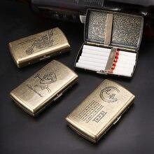 12 zigaretten Hohe qualtiy edelstahl Zigarren zigarette fällen für Tabak zigarette box zigarette werkzeuge