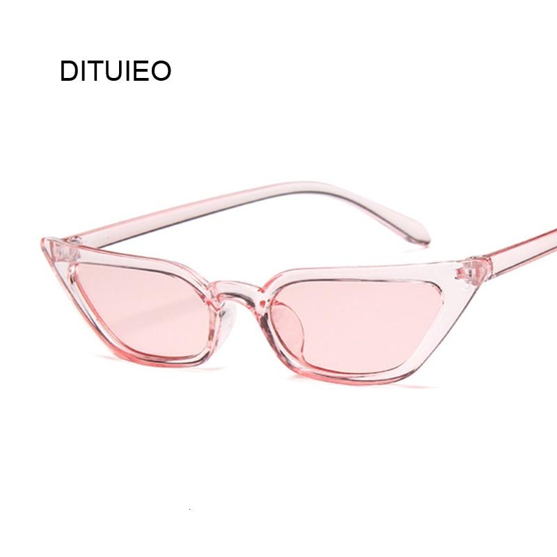 New Cateye Vintage Red Pink Sunglasses Women Brand Designer Retro Points Sun Glasses Female Superstar Lady Cat Eye