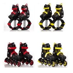 Роликовые коньки, спортивная обувь для катания на коньках для детей, оборудование для катания на коньках оранжевого и розового цвета, регул...