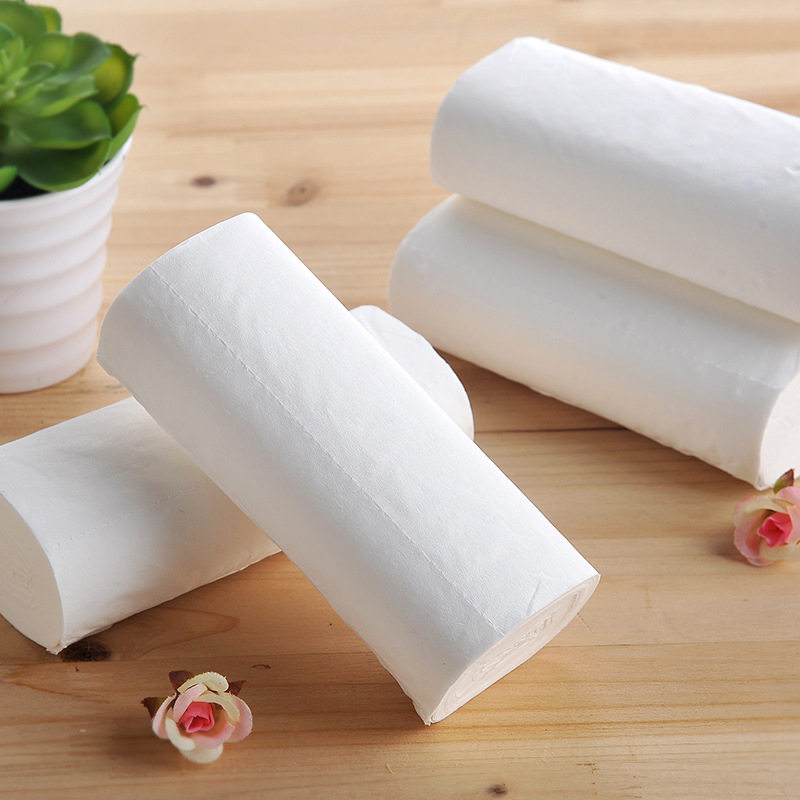 12pcs Coreless Toilet Paper Roll Household 4-layer Thickened Soft Safe Wood Pulp Toilet Roll IK88