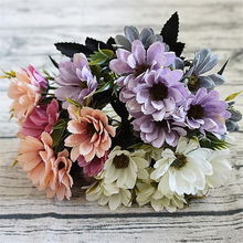 1PC Silk Daisy Artificial Plants Faux Flower 5 Branches 10 heads Wedding House Party Dinning room Decoration 7 colors