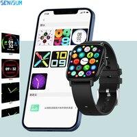 2021 Smart Uhr Männer Bluetooth Stimme Rufen Erinnerung BP Sitzende Monitor Wetter Stoppuhr Frauen Sport Smartwatch Für iOS HUAWEI