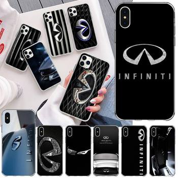 HPCHCJHM Fashion Super Car Infiniti Logo Soft black Phone Case for iPhone 11 pro XS MAX 8 7 6 6S Plus X 5S SE 2020 XR cover image