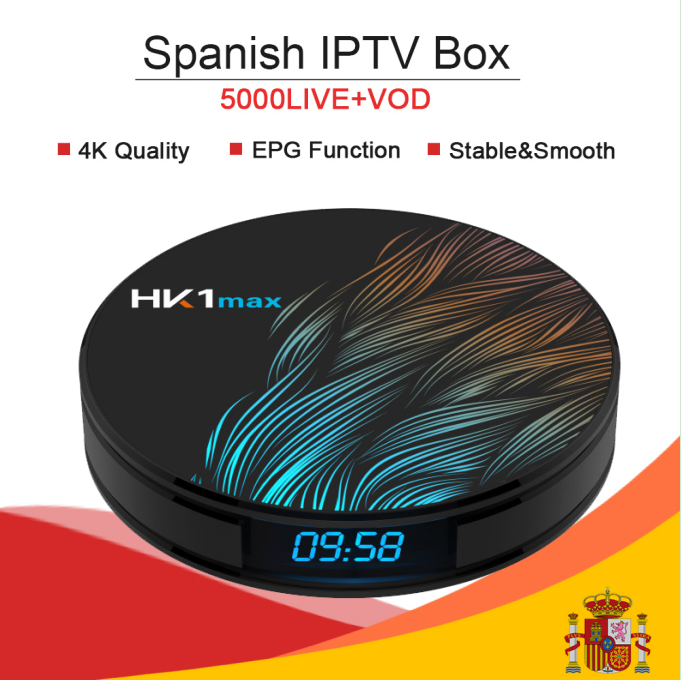 HK1 MAX Android 9.0/double wifi/4 K Smart tv box & KING OTT iptv abonnement nordique France turc arabie espagne Portugal adulte IPTV