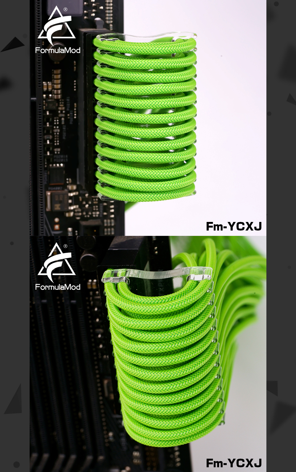 FormulaMod Fm-YCXJ Extend Type Cable Comb For 180° Bending Easy To Fix And Bend Cable Management Tools