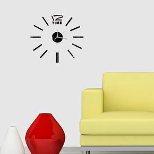 Image 4 - Design moderno Mini fai da te grande orologio da parete adesivo muto digitale 3D parete grande orologio soggiorno Home Office Decor regalo di natale