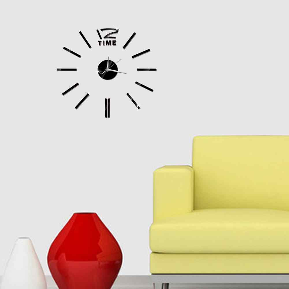 โมเดิร์นออกแบบ Mini DIY ขนาดใหญ่ผนังนาฬิกาสติกเกอร์ Mute ดิจิตอล 3D Wall นาฬิกาขนาดใหญ่ห้องนั่งเล่น Home Office Decor คริสต์มาสของขวัญ