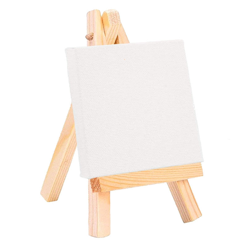 1Pcs Artists Wooden Mini Easel Canvas Set Painting Craft DIY Drawing Small Table Easel Gift Home Decoration