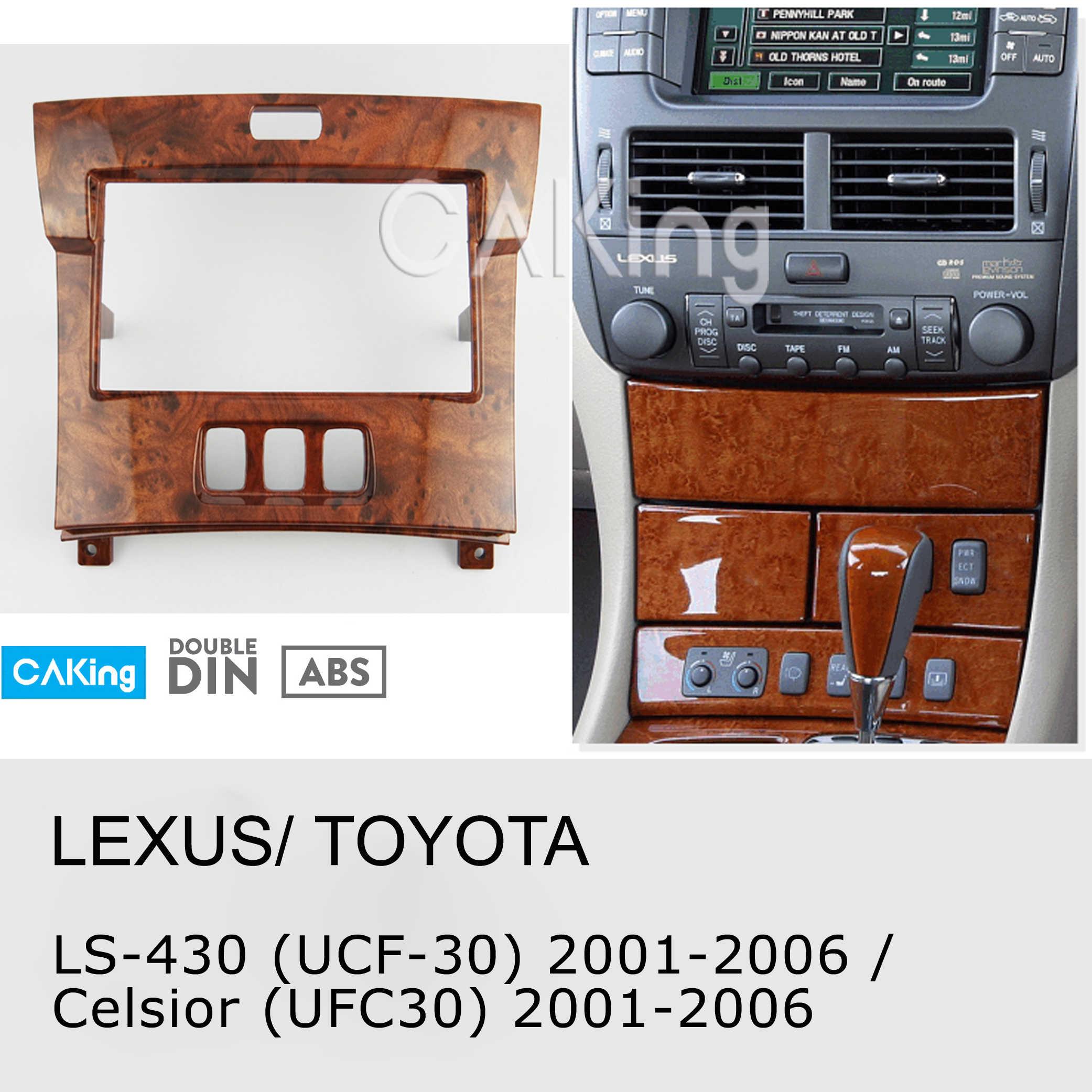 Mobil Fasia Radio Panel untuk Lexus LS-430 (UCF30); Toyota Celsior (UFC30) 2001-2006 Dash Kit Facia Piring Adaptor Penutup Panel Trim