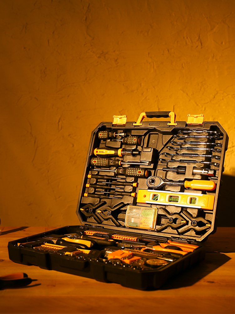 Hand-Tool-Set Screwdriver Knife Socket-Wrench Storage-Case Toolbox Plastic Household