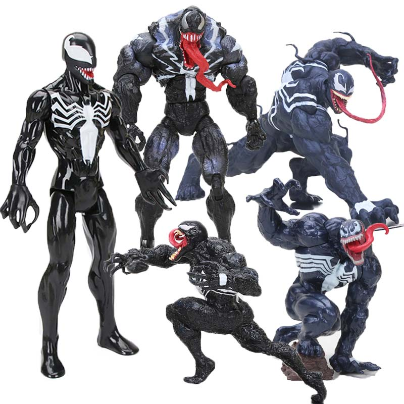 13-30cm Avengers Figure Venom Titan Hero Series Venom PVC Action Figure Black Spider Man Ant-man Collectible Model Dolls Toys