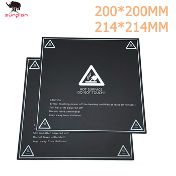 2pcs 3D Printer Parts 200*200mm/214*214mm Frosted Heated bed Sticker printing Build Sheets build plate tape Platform Sticker image