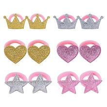 Cartton Crown Baby Headbands For Girls Handmade Elastic Handmade Princess Baby Hairband Newborn Headband Hair Accessories все цены