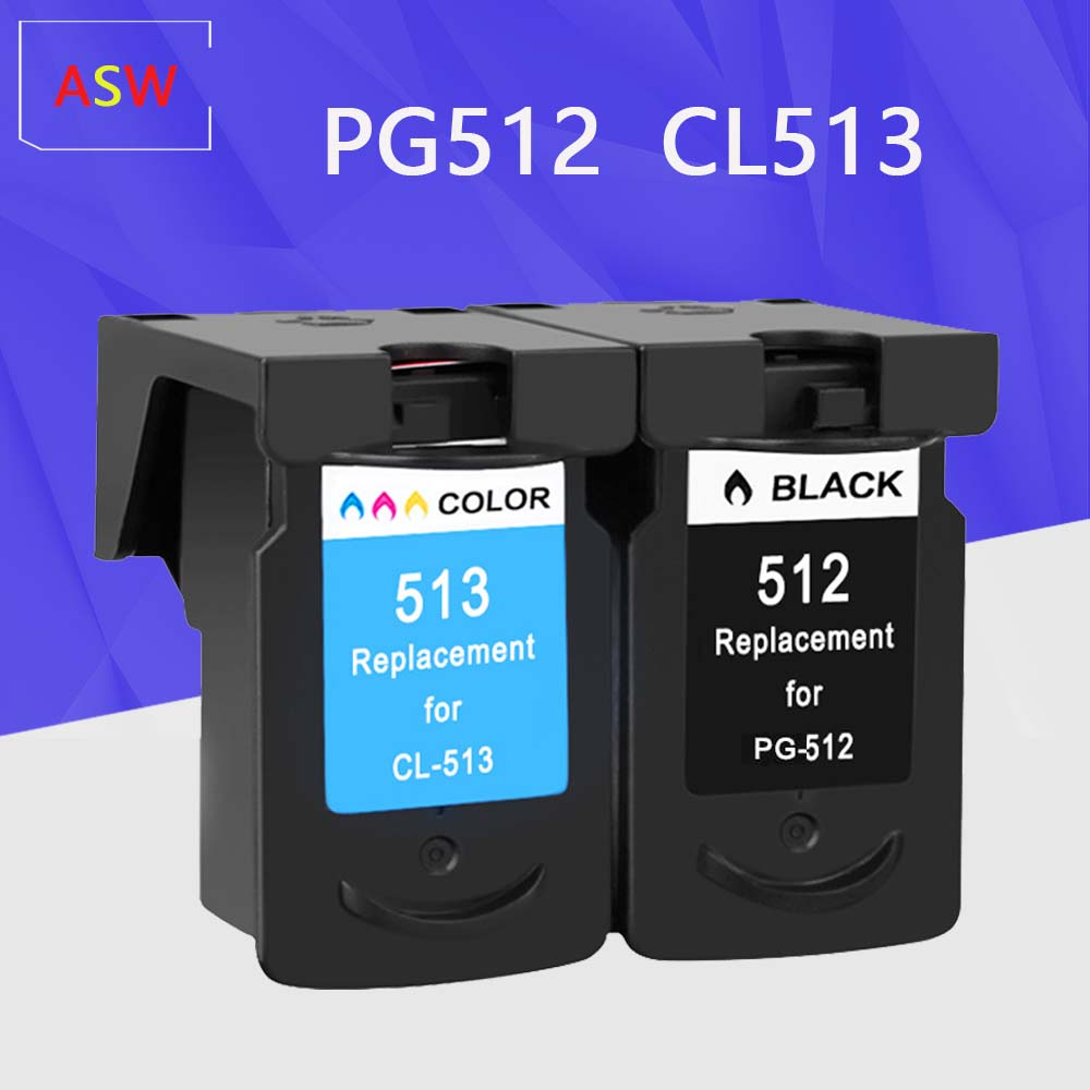 ASW PG512 pg512 CL513 <font><b>ink</b></font> <font><b>cartridge</b></font> replacement for <font><b>Canon</b></font> PG-512 CL-513 for <font><b>Canon</b></font> MP240 <font><b>MP250</b></font> MP270 MP230 MP480 MX350 IP2700 image