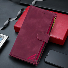 Funda de cuero con cremallera para Xiaomi Redmi Note 9 Pro Max 9s 8 10 8A 10X 4G MI 10 Pro Lite funda de teléfono con tapa magnética