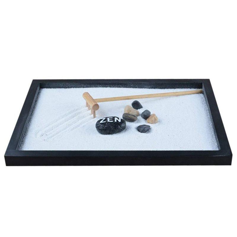 Japanese Karesansui Mini Zen Table font b Garden b font with Rattle Pebbles and Sand Decoration