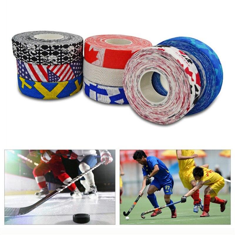 Hockey Stick Tape Multipurpose Colorful Sport Safety Cotton Cloth Enhances Ice Field Hockey Badminton Golf Tape New