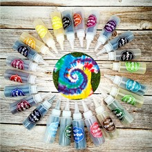 DIY One Step Tie Dye Set 24Color Party Craft Easy Bright Fabric Painting Tools Resin Coloring Dye Paint Pigment Set DIY Kits#Y20