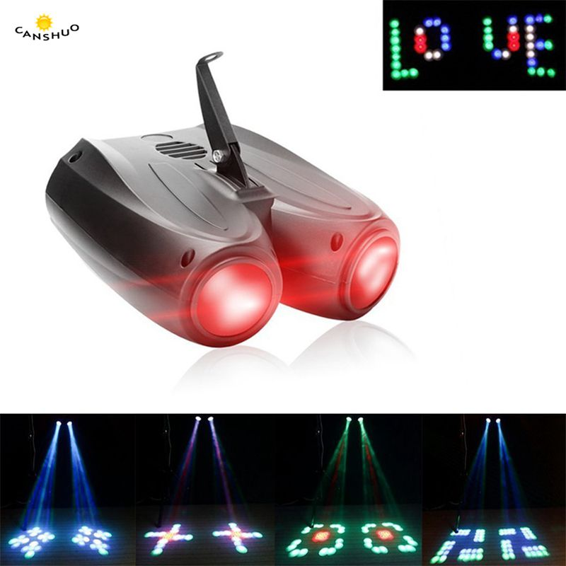Colorful RGBW Pattern 20W 128 LED Stage Light Double Head Airship Projector Lamp for DJ Party