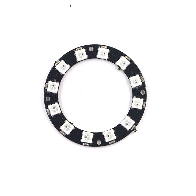 WS2812B ring 1 8 12 16 24 Bits LEDs 5050 RGB addressable ring round LED pixel Lamp Light with Integrated Drivers DC 5V