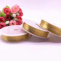 Wholesale Color Protection Copper Wire 0.3/0.4/0.5/0.6/0.8/1.0mm Gold Color for Jewelry Metal Wire Coil Handiwork