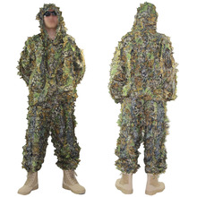 Tactical Camouflage Hunting Clothes Ghillie Suit Mens Outdoor Multicam Hooded Pants + Military Sniper Clothing Uniform