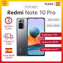 Nueva versión Global Xiaomi Redmi Note 10 pro Smartphone 120Hz 6,67