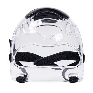Image 3 - Volledige Cover Boksen Helm Verwijderbare Taekwondo Masker Verstelbare Strips Gezicht Shield Karate Kicking Beschermende Gear Oogbescherming