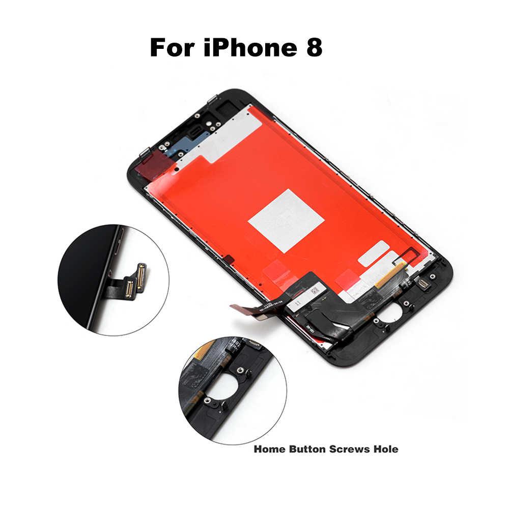 الصف AAA + + LCD ل فون 6 6S 6 زائد 6SPlus مع الكمال شاشة تعمل باللمس محول الأرقام الجمعية ل فون 7 8 عرض + أدوات