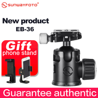 SUNWAYFOTO EB 36 Traveller Tripod Ball Head Quick Release Clamp For DSLR Panoramic BallHead Release Clamp with Arca Plate
