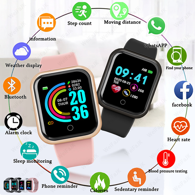 2020 Smart Watches Men Women Bluetooth Smartwatch Blood Pressure Heart Rate Monitor Sports Fitness Bracelet For Apple Android 1