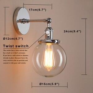 Image 5 - Permo 5.9 Vintage Wandlamp Moderne Glazen Wandkandelaar Wandlampen Armaturen Armatuur Loft Nachtkastje Spiegel Lamp Trapverlichting