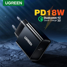 Ugreen Usb Charger Pd 18W QC4.0 Fast Charger Voor Iphone X 11 8 Usb Type C Telefoon Oplader Voor xiaomi Huawei Quick 4.0 3.0 Lader(China)