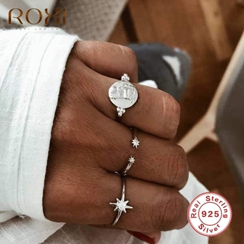 цена на ROXI Stars Zircon Engagement Rings for Women Dainty 18K Gold Plated Wedding Jewelry Rings Crystal Ring Finger Pierscionki