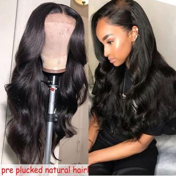 360 Lace Frontal Wigs Pre Plucked Lace Wigs With Baby Hair 250 Density Lace Front Wigs Bleached Knots Long Body Wave Wigs