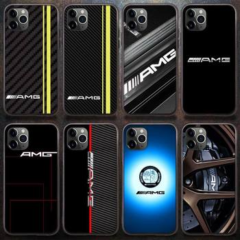 Diseny Mercedes Benz AMG Car Phone Case for iPhone 8 7 6 6S Plus X 5S SE 2020 XR 11 12 Pro mini pro XS MAX image