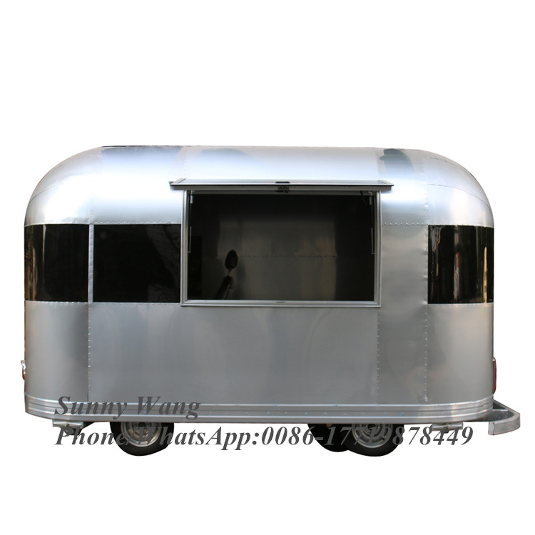 Best Selling Retro Coffee Vehicle Hot Food Truck Fashioned Coffee Food Cart Trailer